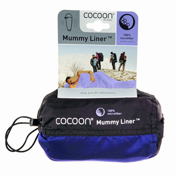 Wkładka do śpiwora - mikrofibra - Cocoon MummyLiner - Cranberry